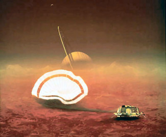 Huygens lands on Titan!