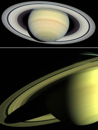 Saturn Seen From Far and Near