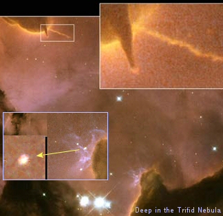 New NASA Hubble Image Reveals Details in the Heart of the Trifid Nebula