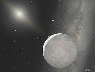 Hubble Finds that the 'Tenth Planet' is Slightly Larger than Pluto.