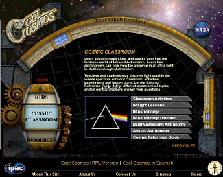 The Cool Cosmos web site is not just for kids