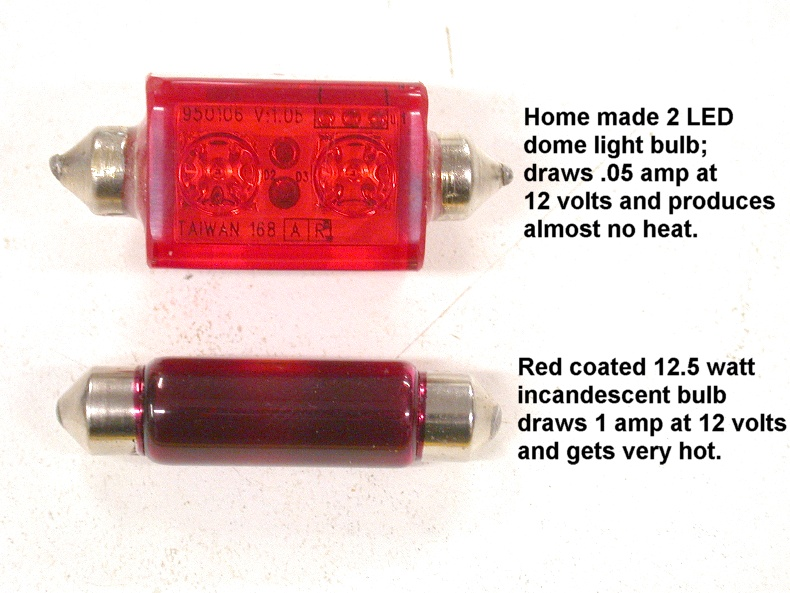Red LED Dome Light Bulb Conversion