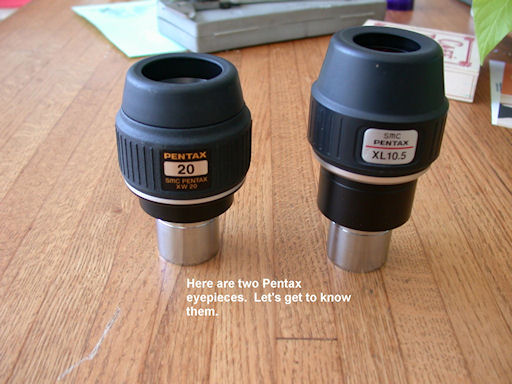 Understanding Pentax XL and XW eyepieces