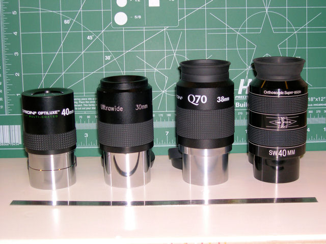 Four 40mm Widefield Eyepieces Compared