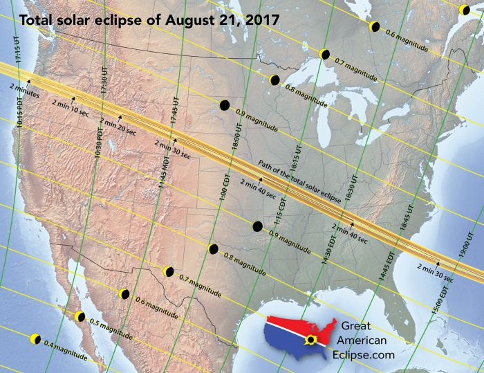 Countdown to the Great American Solar Eclipse -- One Month from Today