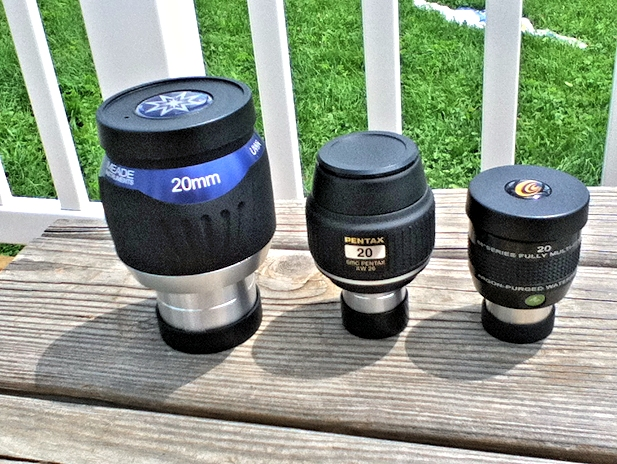 A review of the 20mm ES68, 20mm Pentax XW, and 20mm Waterproof Meade UWA