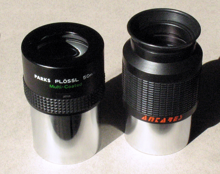 "The Parks 50mm Plossl 2"" Eyepiece vs. the Antares 52mm Erfle 2"" Eyepiece"
