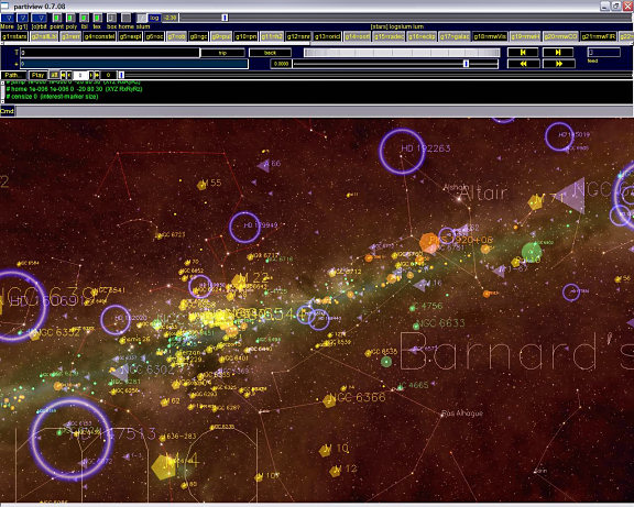 "Review of Hayen Planetarium's freeware ""Partiview"" program"
