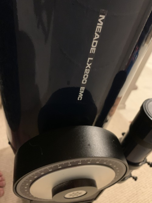 "Meade LX 200 classic EMC 8"" very low use"