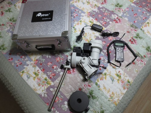 iOptron 25P equatorial mount with hard case