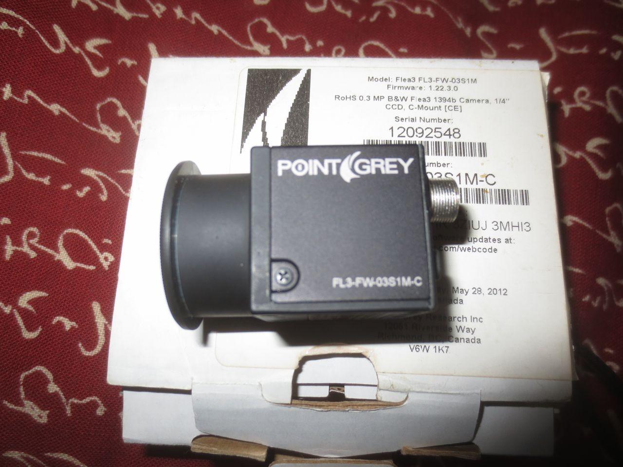 POINT GREY FLEA 3 MONO MODEL FLEA 3 FL3-FW-03S1M PART # FL3