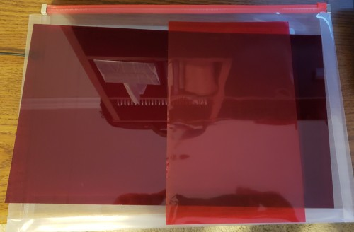 MORE Red acrylic screen, red film for touch screens