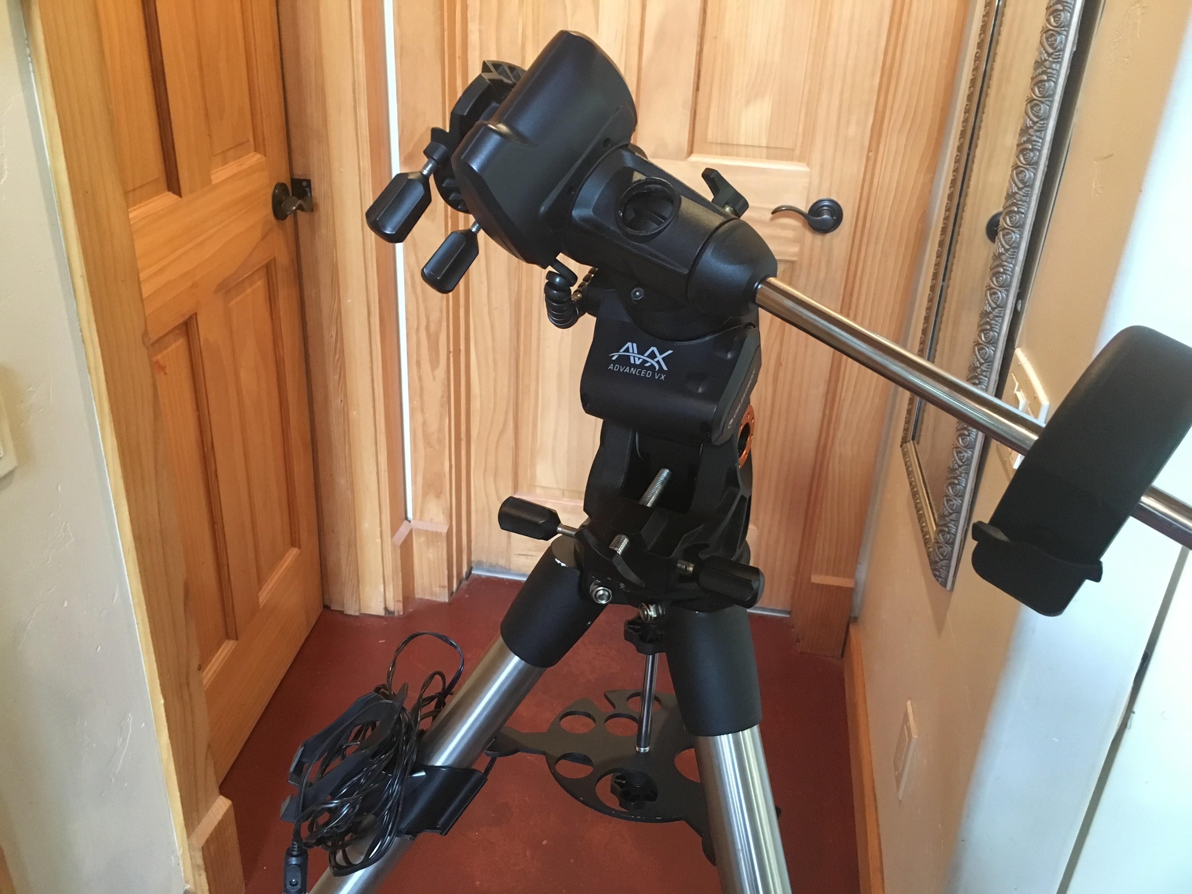 Celestron AVX mount w/wifi SkyPortal, StarSense - camera and