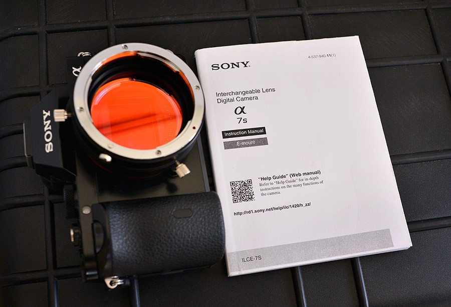 Hutech modified Sony alpha a7S, near mint with accessories
